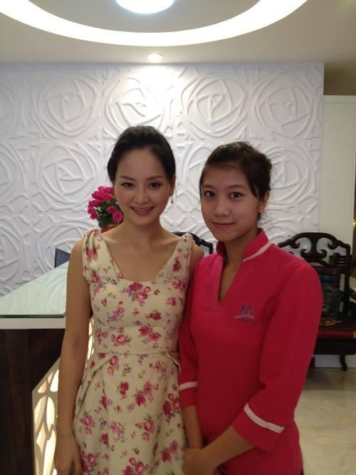 Diễn viên Lan Phương tại Thanh Quỳnh Spa